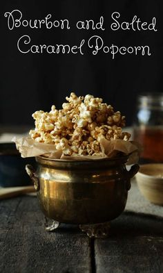 Talk about a classy movie night- Bourbon and Salted Caramel Popcorn from @ChefBillyParisi