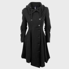 Elegant Black Overcoat Price $56.06 AUD Click the link in my bio ---> @soulkreedclothing and grab yours today while stocks last. Sign up to our newsletter and get 15% off all purchases! Outerwear Type: Wool & Blends Pattern Type: Solid Clothing Length: Long Sleeve Length: Full Material Composition: Polyester Collar: Turn-down Collar Closure Type: Double Breasted Decoration: Button Type: Asymmetric Length Sleeve Style: Regular Material: Polyester Sleeve Type: Regular ..