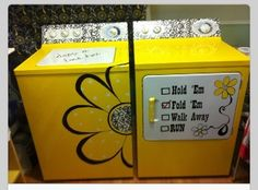 DIY painted washer & dryer! I want to paint my ugly old Dryer. (Maybe not this design though)