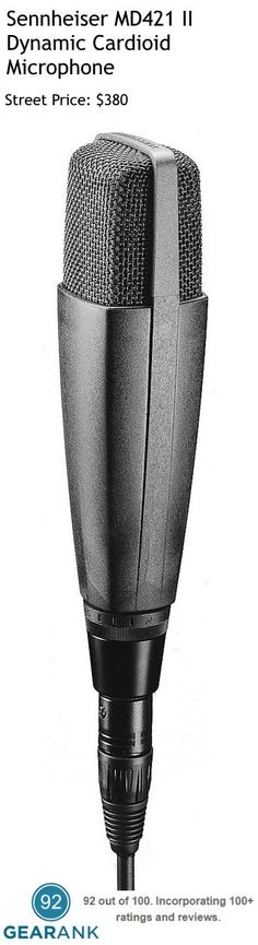 Sennheiser MD421 II Dynamic Cardioid Microphone. This mic has been used in the studio by pros like Kurt Cobain, Elton John, Owl City and many more.  For a detailed guide to Studio Mics For Vocals from $100 to $1000 see https://www.gearank.com/guides/vocal-studio-mics