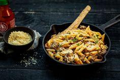 Jauheliha-juustopasta Penne, Pasta, Ethnic Recipes, Food, Essen, Noodles, Yemek, Ranch Pasta, Meals