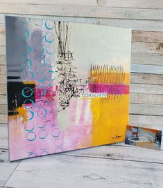 Pastel colored Abstract Painting Find Your Way Back by Jodi Ohl#abstract #abstractpainting #patterns #acrylicpainting #jodiohl Retro Color, Mixed Media Art, Collage Art, Home Art, Pattern Design, Abstract Art, Artsy, House Landscape, Inspiring Art