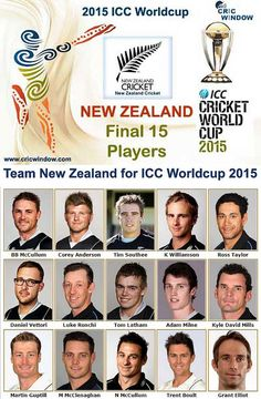 New zealand squad for Semi-1 ICC Worldcup 2015 http://www.cricwindow.com/icc-worldcup-2015/new-zealand-squad.html
