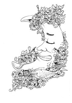 Ideia Quente: Doodle Invasion ··· um dos livros de colorir mais legais que existem!