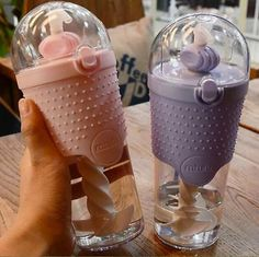 Double layer Plastic Glass Cup Tea Infuser Water Bottle Tumbler Travel Mug. Cute Water Bottles, Water Bottle With Straw, Cup With Straw, Glass Water Bottle, Plastic Bottle, Tout Rose, Accessoires Iphone, Cute Cups, Tea Infuser