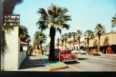 Palm Springs: this is how it looked when we moved there when I was seven years old. Spring Architecture, Palm Springs California, Southern California, Nostalgic Pictures, Coachella Valley, Vintage Travel, Vintage Postcards, Vacation Spots, Just In Case