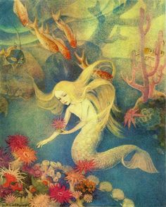 Dorothy Lathrop ~The Little Mermaid~ 1939 ~via  The strangest trees and flowers grow there,with leaves and stems so flexiblethat at the least motion of the waterthey move just as if they were alive.
