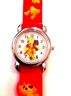New Red WINNIE THE POOH Boys/ Girls Watch 3-D  | eBay