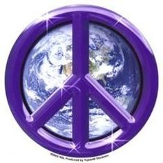 Matt Stewart Purple Earth Peace Sticker