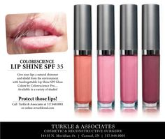 Sunforgettable Mineral Lip Shine SPF 35 helps prevent dry, chapped and burnt lips. Available in a variety of colors at Phases Skin Care & Laser Center in Carmel. 317.848.8101 or online at phasesskincare.com