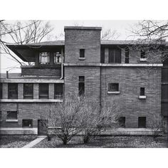 The Robie House - view of rear elevation AARON SISKIND (American, 1903-1991)