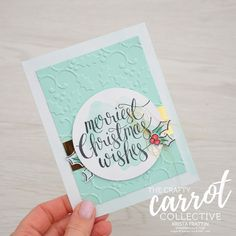 Stampin' Dolce: Watercolor Christmas - Crafty Carrot Co Blog Hop