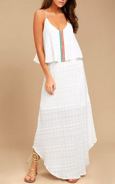 PPLA Lalo White Embroidered Maxi Dress @bestmaxidress