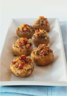 "The Ultimate Stuffed Mushroom – We don't use the word ""ultimate"" loosely. Each one of these delectable stuffed appetizers is bursting with rich, butter-tasting Ritz Cracker crumbs and cheesy flavor."