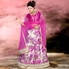 Beautiful Party Wear Printed Lace Border Multicolor Lehenga Choli - 15850 ( ML-928 )