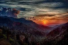 Newfound Gap Sunset, Great Smokys National Park