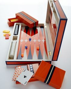 Lacquer Card, Backgammon, & Domino Sets by Jonathan Adler at Neiman Marcus.