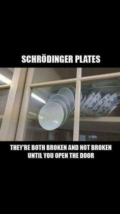 Having studied psychology, I appreciate this all the more.but regardless, it's funny as all get out and true! Physics Jokes, Funny Science Jokes, Science Puns, Chemistry Jokes, Nerd Jokes, Nerd Humor, Funny Jokes, Hilarious, It's Funny