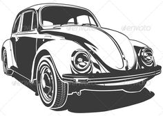 Vector Retro Car  #GraphicRiver         Available AI, CDR and EPS vector formats. More transportation illustrations see in my portfolio.