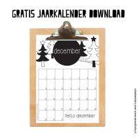 Gratis maandkalender december Kalender Design, Flask, Free Printables, Crafts For Kids, Diys, Bullet Journal, How To Plan, Handmade Gifts, Prints