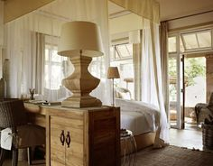 Luxurious Singita Serengeti House in Tanzania African Interior Design, Colonial Furniture, Hotel Decor, Beautiful Interiors, Home Renovation, House Tours, House Design, Safari Chic, Bedrooms