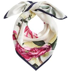 Women's Joules Bloomfield Silk Scarf ($33) ❤ liked on Polyvore featuring accessories, scarves, pure silk scarves, tie scarves, tying silk scarves, holiday scarves and evening shawl