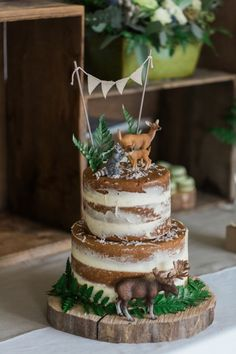This beautiful woodlands cake, fit for a baby shower.   Community Post: 15 Ridiculously Stunning Nature Cakes That Are Almost Too Perfect To Eat