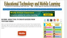 Blubbr is a cool web tool that allows users to create quizzes around YouTube videos. These are basically interactive video quizzes ( called Trivs ) that you can create for your students and which they can answer while they watch the selected video clip. The quizzes are also feedback supported meaning students will get feedback as they answer each question.