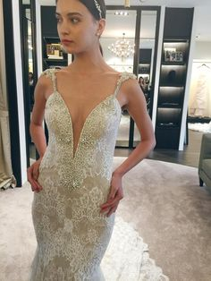 BERTA Bridal Spring 2016 Trunk Show in Singapore‬ - a flurry of lace, crystal sequins and pearls {Facebook: The Wedding Scoop}