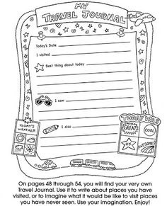Travel Printables Samples from Dover Publishing