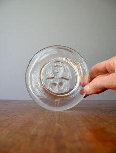 Vintage Boda Sweden Cast Glass Dish  Erik Hoglund by luola on Etsy