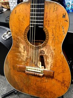 Willie Nelson's guitar, backstage at 2014 Grammy's