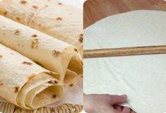 Идеальный тонкий лаваш в домашних условиях. Вкуснее магазинного! - interesno.win Food And Drink, Bread, Cooking, Ethnic Recipes, Cheese, Syrup, Turmeric, Rezepte, Kitchen