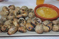 sült csiga(sózott)vajas mártással