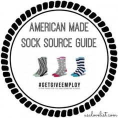 Made in USA Sock Brands via USALoveList.com