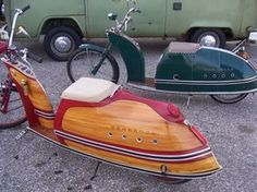 Handmade Custom Mopeds The coolest Custom Mopeds i came across recently. This Handmade Custom Mopeds are Powered by a 5 BHP toro lawn mower engine . I found this Custom Mopeds in hondaspree forum.
