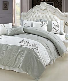 This Lucca Hotel Collection Comforter Set by Cay Trading is perfect! #zulilyfinds