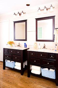 Casual Dual Vanity Makeover-master bath ideas