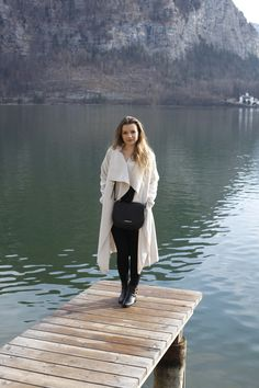 Hallstatt travel post on www.andreamurasan.com  #blog #blogpost #ontheblog #andreamurasan #travel #fashion #outfit Travel Fashion, Live, Outfit, Coat, Blog, Outfits, Sewing Coat, Blogging, Peacoats