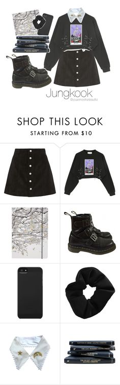 """☆ study work with Jungkook ☆"" by youaremorethanbeautiful ❤ liked on Polyvore featuring AG Adriano Goldschmied, Go Stationery, Dr. Martens, Incase and Topshop"