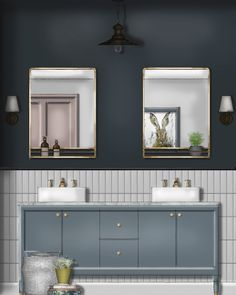 A little bit of colour blocking in this industrial bathroom using SketchUp and Photoshop! This render demonstrates the impact of considered colour in a small space! Interior Design Renderings, Interior Rendering, Interior Sketch, Create Floor Plan, Architectural Floor Plans, Interior Stylist, Furniture Layout, Home Staging, Interior Decorating