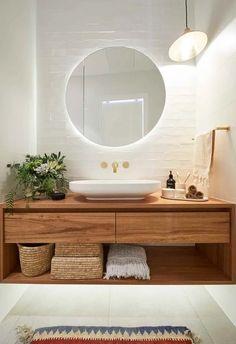 Find Your Zen: 19 Spa Bathroom Ideas Bathroom Interior Design, Home Interior, Scandinavian Bathroom Design Ideas, The Block, Boho Bathroom, Bathroom Ideas, Small Bathroom, Bathroom Organization, Spa Bathrooms