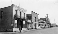chinatown... san luis obispo... long before the parking garage.... note that the neon chop suey sign is across the street from it's more recent location (until it was taken down a few months ago.(
