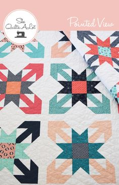 Pointed View Quilt from She Quilts A Lot