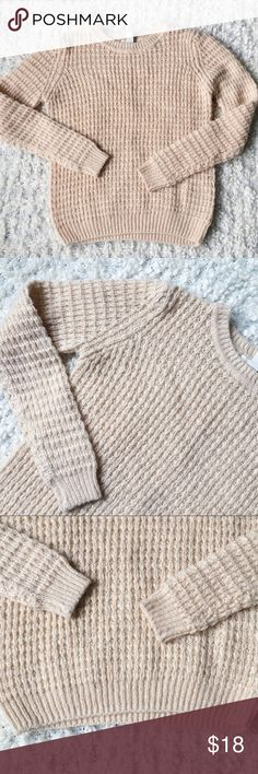 580bde2b58a8 Forever 21 Knit Chunky Cream Crew Sweater Forever 21 sweater. No flaws!  Make an