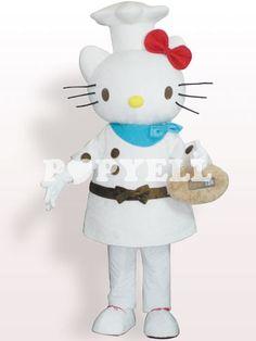 #mascotte #HelloKitty Costume Mascotte Hello Kitty Chef de Cuisine en Peluche Adultes a prix pas cher chez Popyell.com