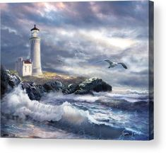 Lighthouse Storm, Lighthouse Painting, Map Painting, Love Painting, Lighthouse Pictures, Canvas Art, Canvas Prints, Beautiful Artwork, Landscape Paintings