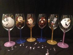 Beauty and beast by JJGlamourGlasses on Etsy