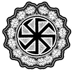 °Slavic SunWheel ~ Kolovrat means spinning wheel in a number of Slavic languages. Swastika & Kolovrat are believed to be ancient Slavic pagan symbols. The Kolovrat is one of the most respected & the most powerful protective pagan symbols & is a symbol of the god Svarog. It represents strength, dignity, sun & fire. It is a symbol of secular as well as spiritual power. The kolovrat represents the endless cycle of birth & death, each turn of the wheel is a cycle of life in our world.