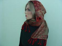Weiteres - Kapuzenschal Kaschmir Paula Paisleymuster - ein Designerstück von hofatelier-mode bei DaWanda
